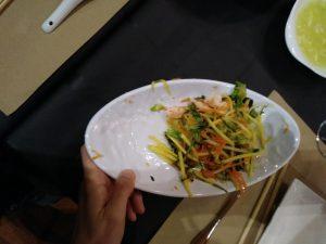 ensalada de mango Restaurante Lotus comida Vietnamita Zaragoza