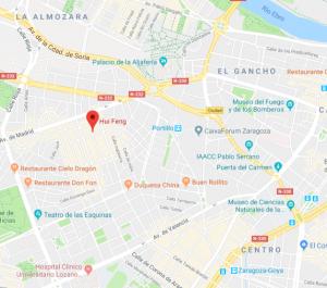 Mapa restaurante Hui Feng Zaragoza