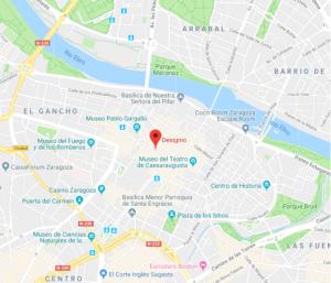 mapa restaurante Designio Zaragoza