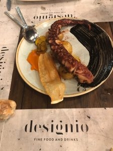 pulpo restaurante Designio Zaragoza