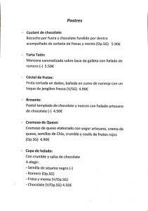 postre Restaurante Laquinoa