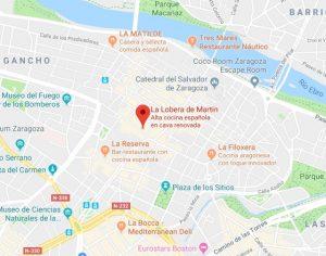 mapa restaurante la Lobera de Martin