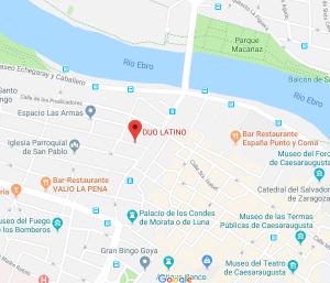 ubicación restaurante Duo latino de zaragoza