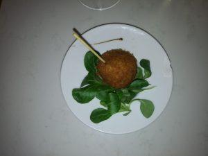 albóndiga de ternasco restaurante Meli del Tubo