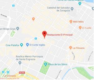 mapa restaurante Teatro Principal de Zaragoza