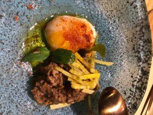 Huevo Aragnes restaurante Nola Gras de Zaragoza