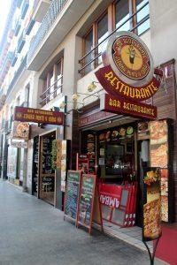 entrada restaurante Colombiano Zaragoza