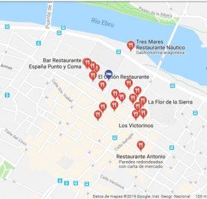 mapa restaurante Colombiano Zaragoza
