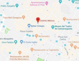 mapa restaurante distrito mexico Zaragoza