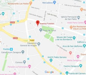 mapa restaurante la Azarina Zaragoza