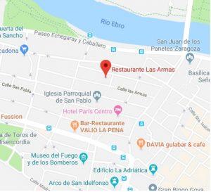 mapa restaurante las Armas Zaragoza