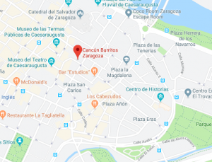 mapa restaurante cancun burritos zaragoza