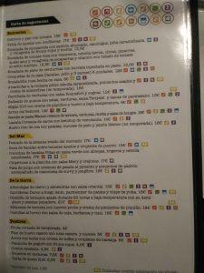 carta restaurante el dieciseis zaragoza