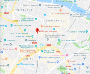 ubicación restaurante el dieciseis Zaragoza