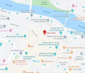 mapa kukys place zaragoza