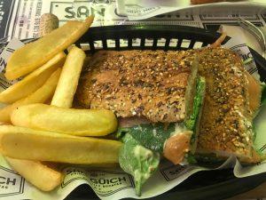 bocadillo salmon restaurante san guich zaragoza