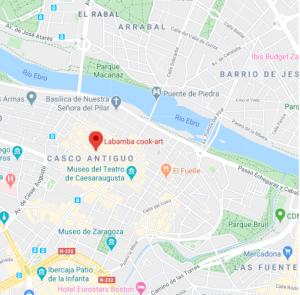 mapa restaurante labamba Zaragoza