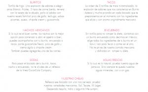 Menú Burrito azteca Zaragoza