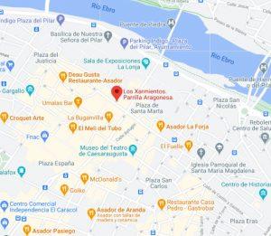 ubicación restaurante los xarmientos Zaragoza